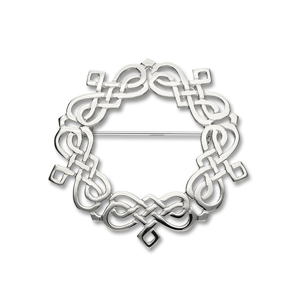 Celtic Silver Brooch B306