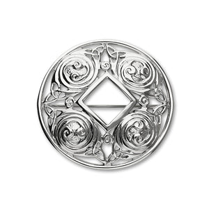 Celtic Silver Brooch B310