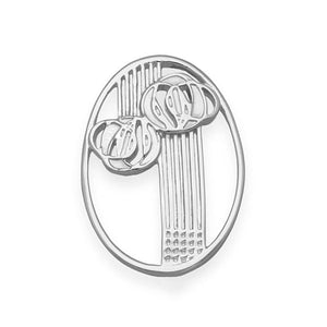 Charles Rennie Mackintosh Silver Brooch B584