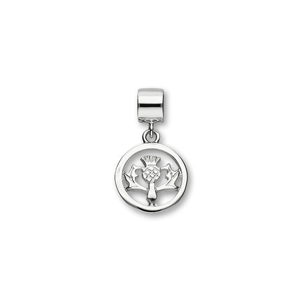 Thistle Silver Charm C305
