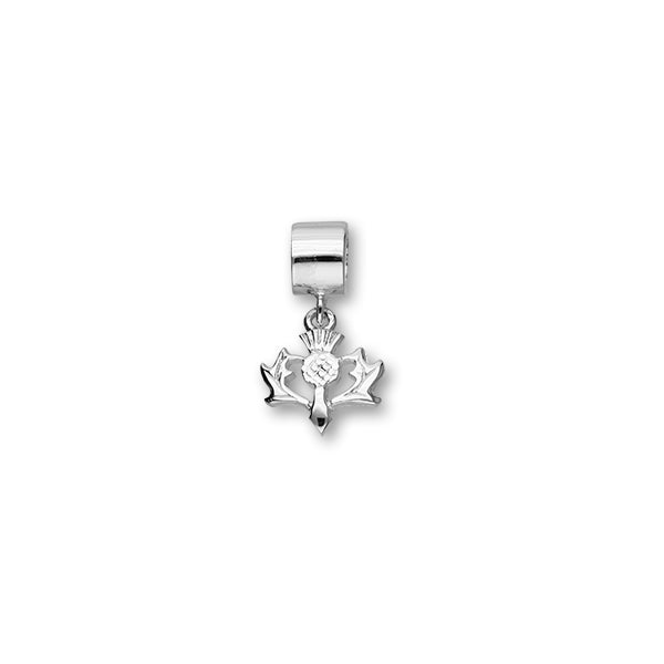 Thistle Silver Charm C325