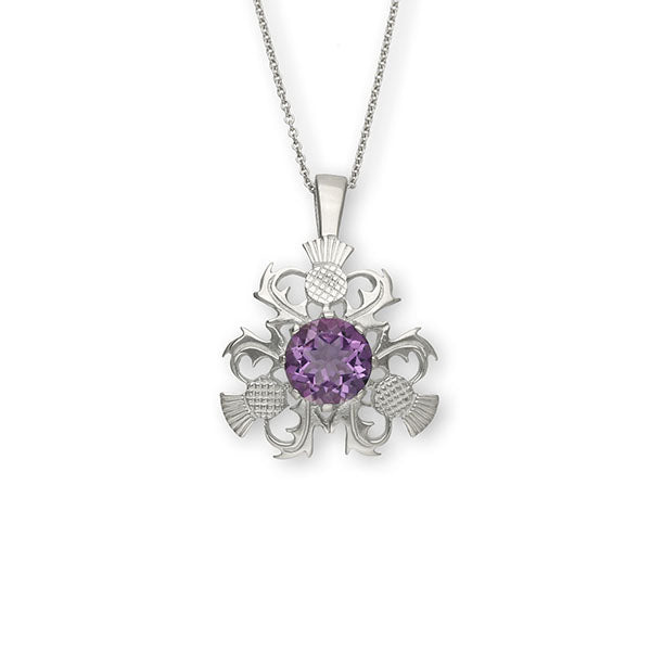 Thistle Silver Pendant CP4 Amethyst