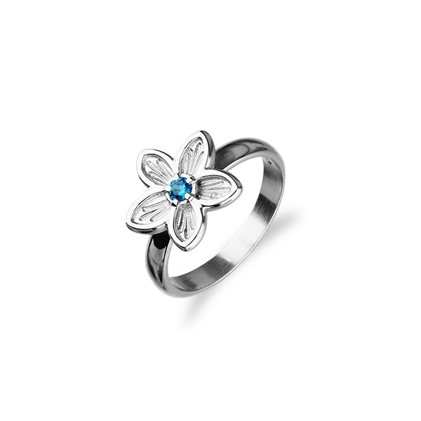 Happy Valley Silver Ring CR153 Blue CZ