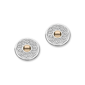 Cuillin Silver/9K Rose Gold Earrings E1055