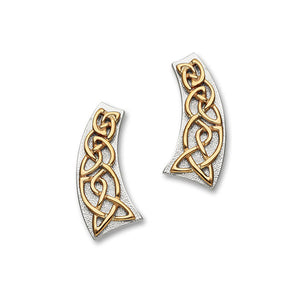 Cuillin Silver/9K Rose Gold Earrings E1061