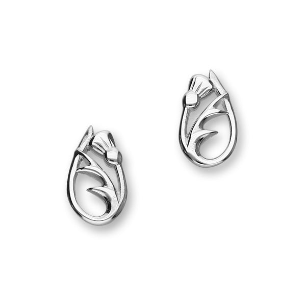 Thistle Silver Earrings E1518