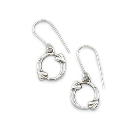 Archibald Knox Silver Earrings E1604