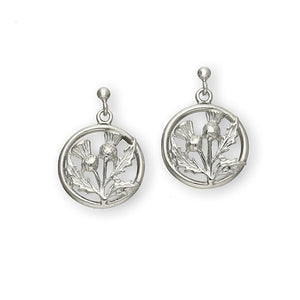 Thistle Silver Earrings E27