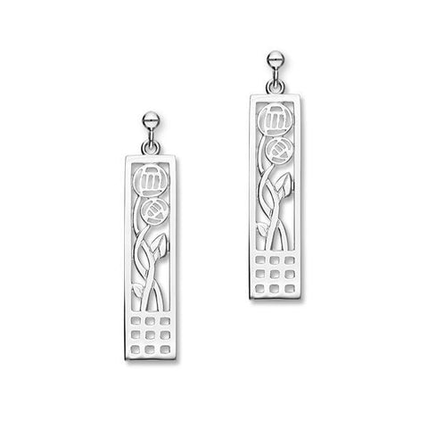 Charles Rennie Mackintosh Silver Earrings E475