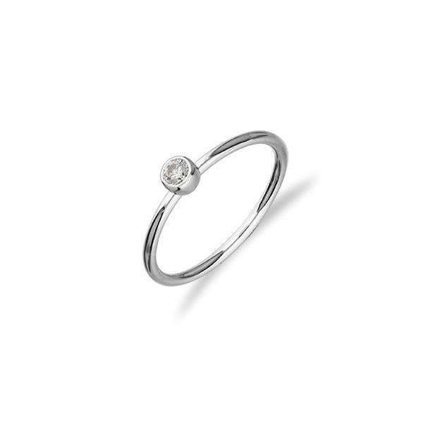 Indie Silver CZ Ring FCR 1