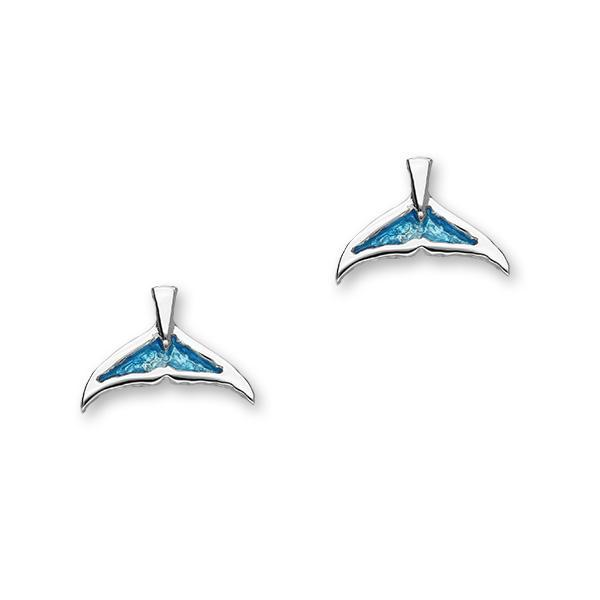 Bottlenose Fluke Enamelled Silver Earrings FEE 5