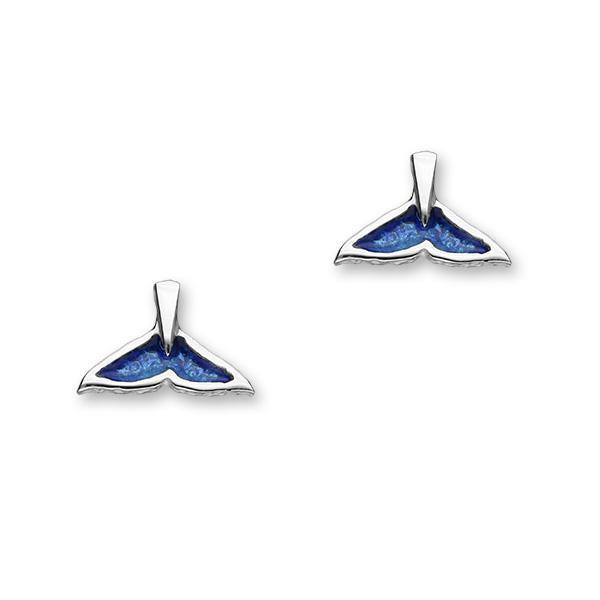 Orca Fluke Enamelled Silver Earrings FEE 6