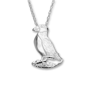Puffin Silver Pendant FP 12 - P