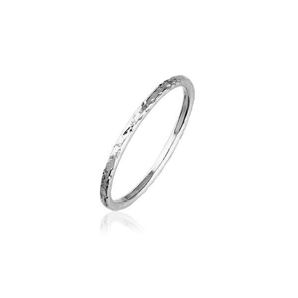 Hammered Band Silver Ring FR 30