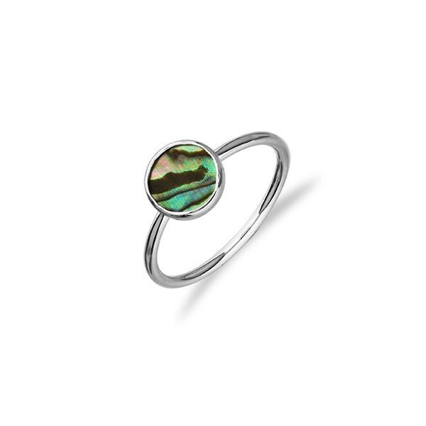 Indie Silver Abalone Ring FSR 5