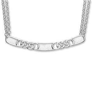 Celtic Silver Necklet N223