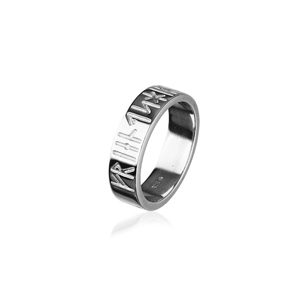 Runic Silver Ring R262