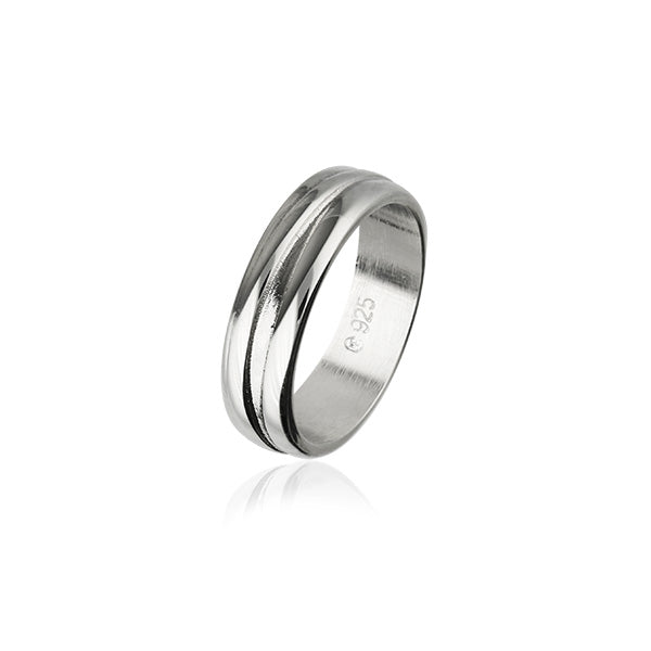 Simply Stylish Silver Ring R392