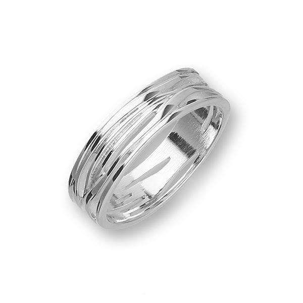 Twiggy Silver Ring R394