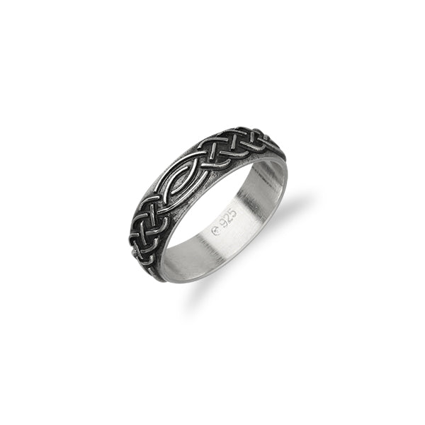 Celtic Silver Ring R404