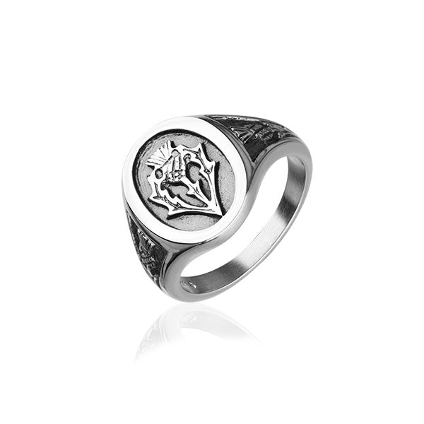 Thistle Silver Ring R78