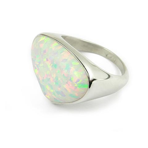 Sahara Sunset Silver Ring SR172 White Opal