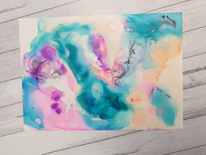 "Under the Sea unframed original artwork, ""Painting 5"""