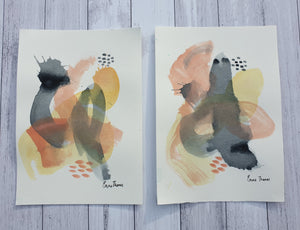 Mixed media original abstract studies, A4 Size