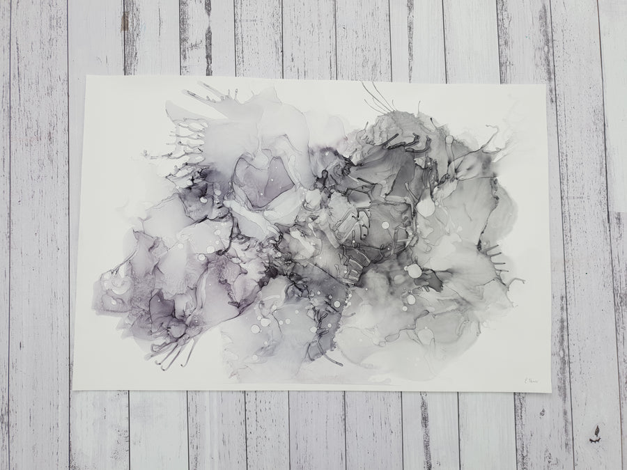 A2 Shades of Grey original abstract art