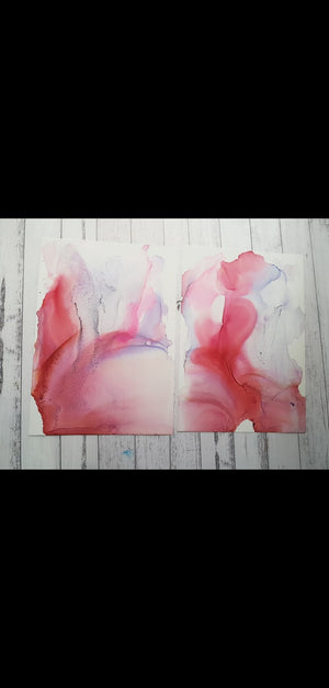 A3 Pink and purple colour study, original, unframed artworks