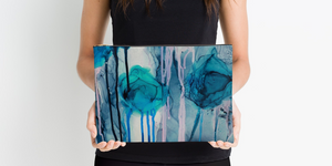 """Jellyfish"" Blue Clutch/Bag"