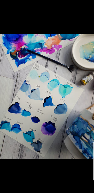 Alcohol inks workshop. Perfect for beginners! MARCH 13th th 9am-12pm