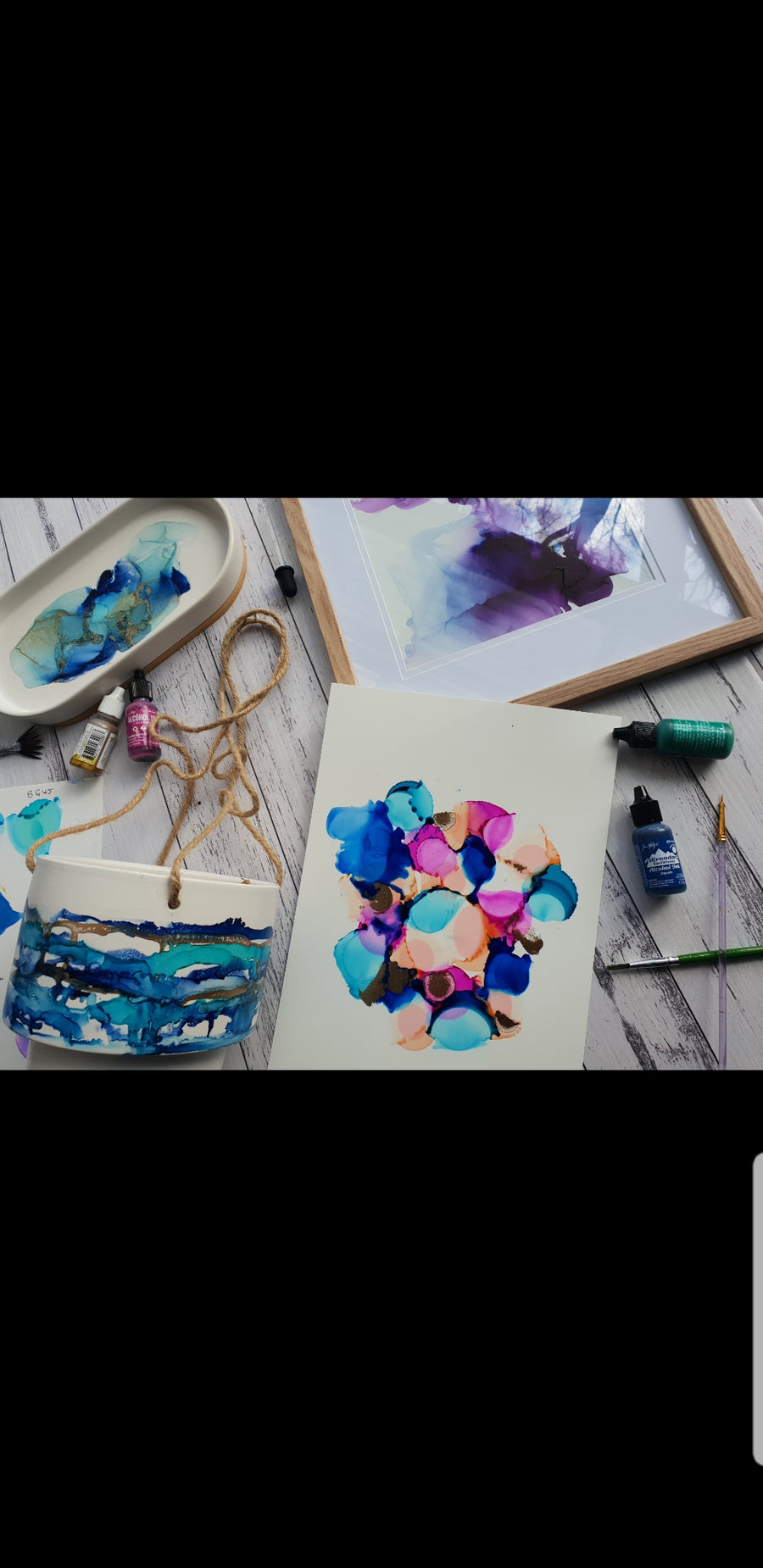 Alcohol inks workshop. Perfect for beginners! February 27th 9am-12pm