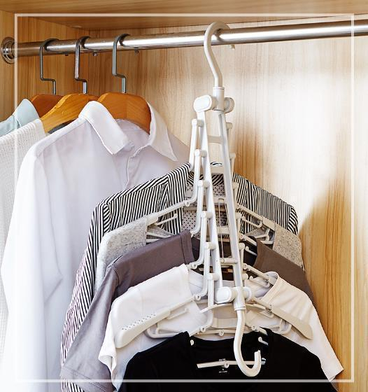 (BUY TWO FREE SHIPPING!!!) Magic Folding Multi-function Hanger - Suitable For Any Scene