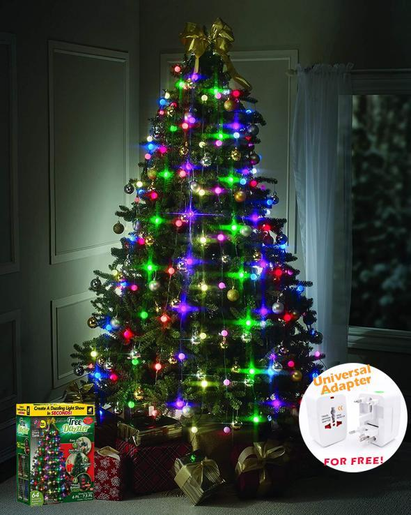 【HOT SALE】64 LED CHRISTMAS TREE LIGHTS TREE DAZZLER - 50% OFF TODAY ONLY!