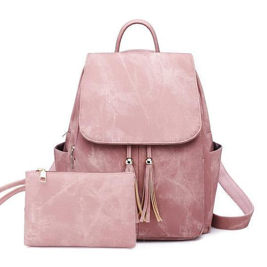 Women Tassel Backpack School Bag