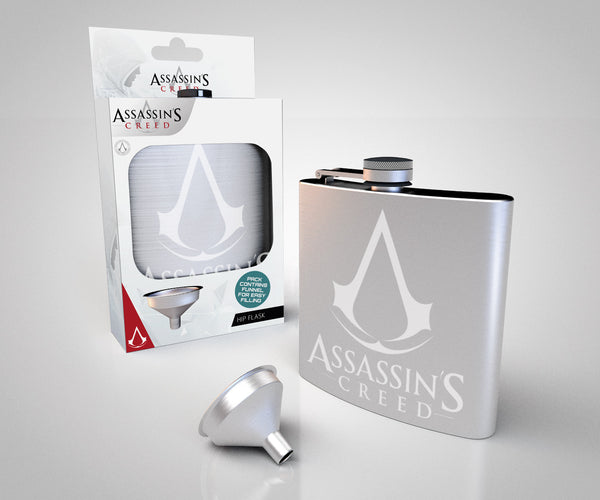 Assassins Creed Logo Metal HipFlask