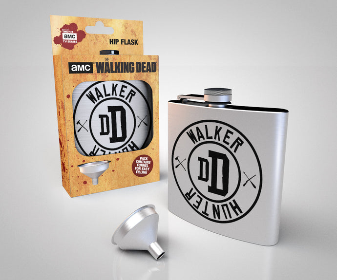 The Walking Dead Walker Hunter Metal Hip Flask
