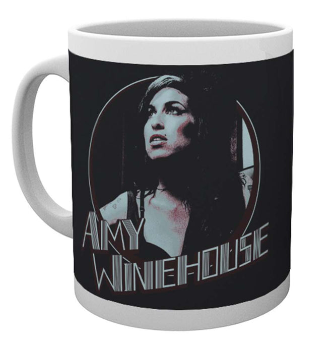 Amy Winehouse Retro Badge Mug