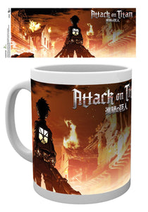 Attack On Titan Key Art Mug