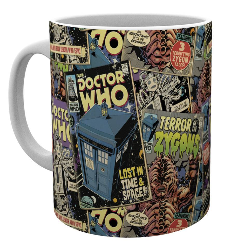 Doctor Who Comic Books Mug