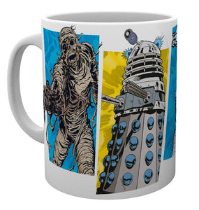 Doctor Who Panels Mug