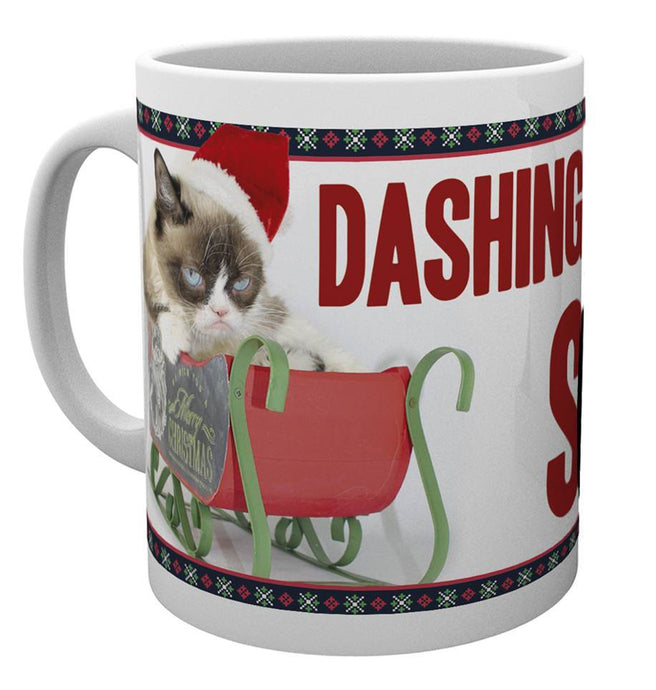 Grumpy Cat Rushing Christmas Mug Mug