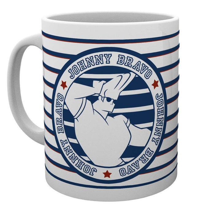 Johnny Bravo Badge Mug
