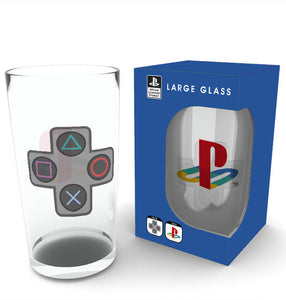 Playstation Buttons Large Glass