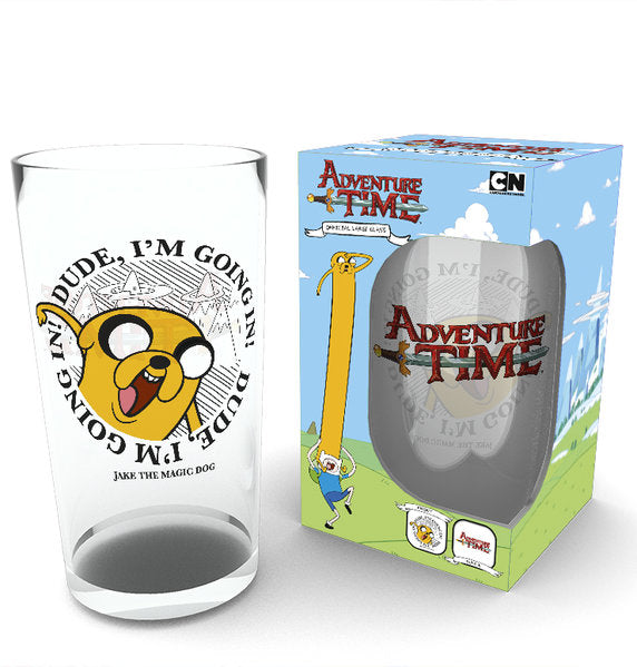 Adventure Time Going In Large Glass
