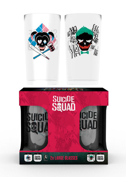 Suicide Squad Joker And Harley Large Glasses Twin Pack