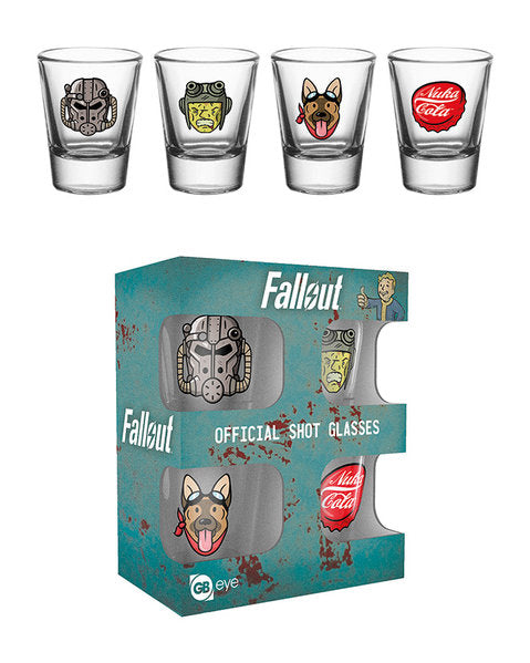 Fallout 4 Icons Shot Glasses