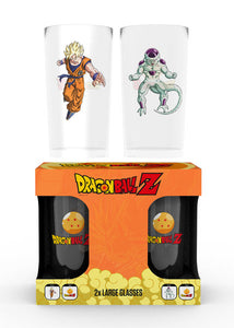 Dragon Ball Z Goku vs Frieza Large Glasses Twin Pack