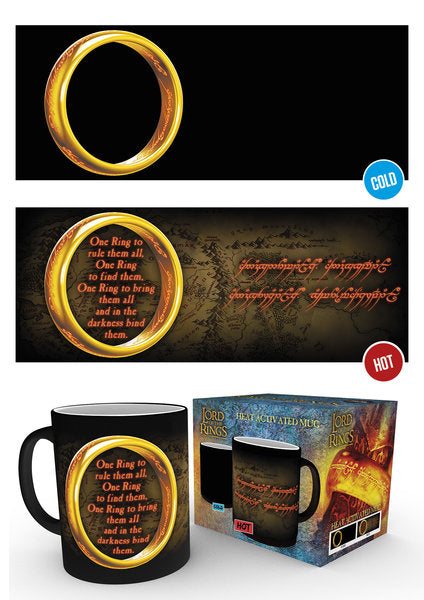Lord Of The Rings One Ring Heat Changing Mug